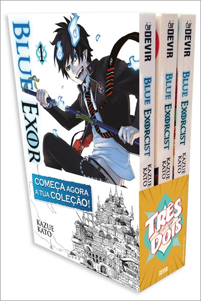 Caixa do pack Blue Exorcist 1-2-3