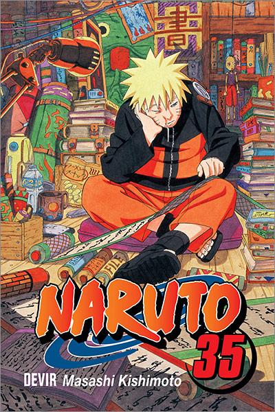 "Capa do mangá Naruto 35 - ""Nova Dupla Inimiga"""