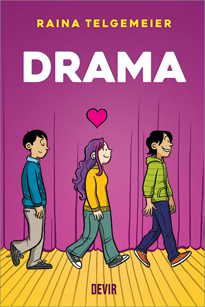 "Capa da Graphic Novel ""Drama"""