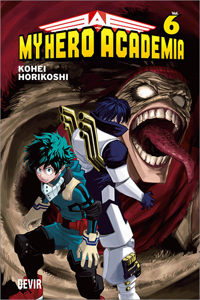 Capa do mangá My Hero Academia Volume 6