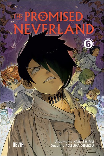 "Capa do mangá ""The Promised Neverland"" Volume 6"