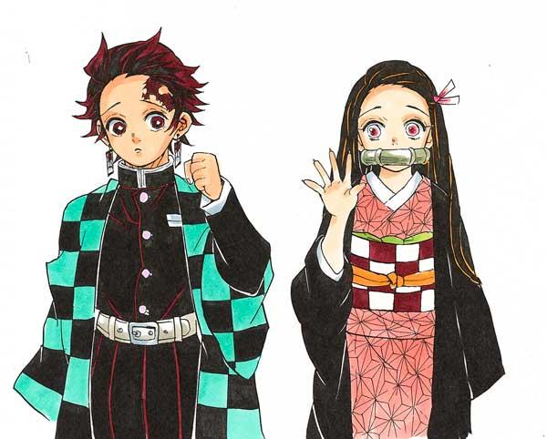 Os Irmão Tanjirou Kamado e Nezuko Kamado
