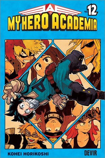 Capa do mangá My Hero Academia 12